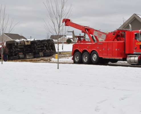 Case Towing on Scene of Rollover